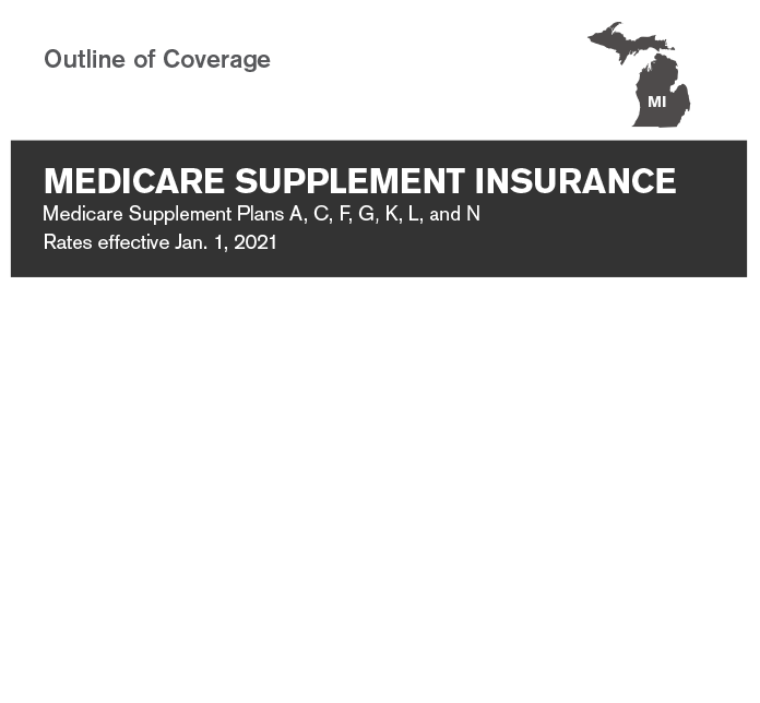 Medicare supplement insurance plan outline of of coverage