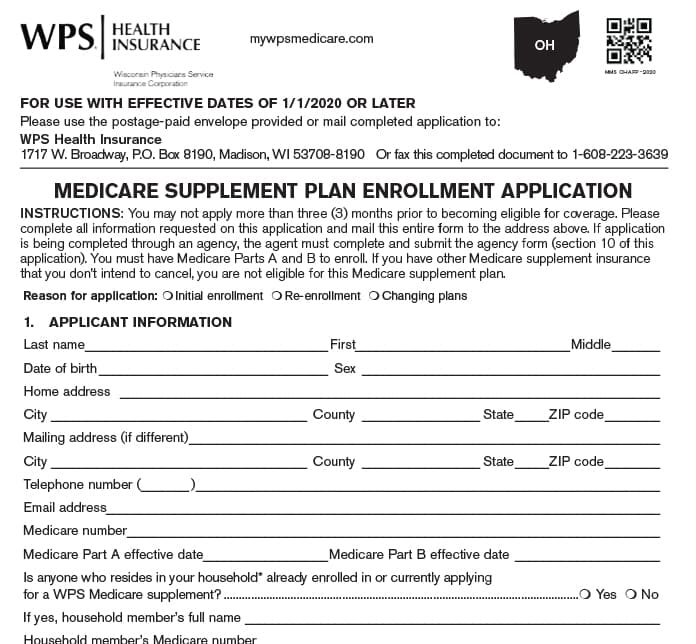 Medicare Supplement Application